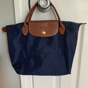 Longchamp Le Pliage Small Handbag in Navy Blue